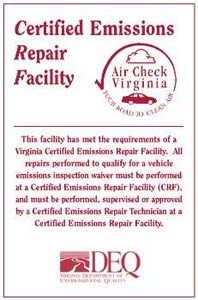VA State Inspection in Reston, VA